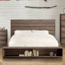 Coimbra Rustic Natural Tone Finish Cal King Platform Bed Frame w ...
