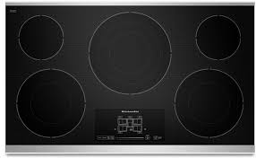 kitchenaid 36 electric cooktop stainless steel kecc667bss