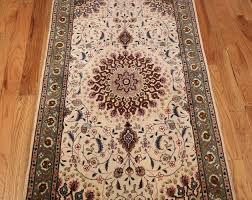 modern wool and silk tabriz persian runner rug 49402 medallion nazmiyal