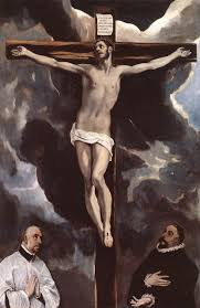 christ on the cross adored by two donors c 1590 el greco