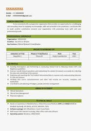 Resume Format For Biotechnology Freshers It Resume Cover Letter