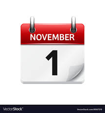 Daily Picture Calendar November 1 Flat Daily Calendar Icon Date