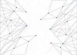 技術ネットワーク ダイアグラムのリンク白イラスト背景