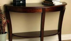 half moon sofa table unique circle tables by shaped range wooden console