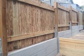 retaining wall and fence combo