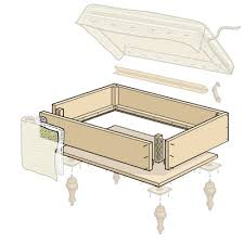 DIY Storage Ottoman Plans for Appealing Diy Plans How To Build A Footstool  With Storage Pdf Download How