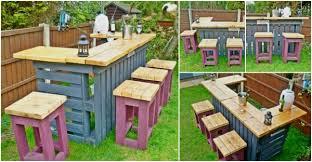 diy patio bar. Pallet Patio Bar Diy P