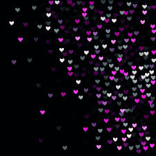 Cool Pink And Black Background Beautiful Pink Confetti Hearts Falling On Black Background