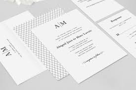 Abigail Wedding Invitation Suite Sample Dearlc