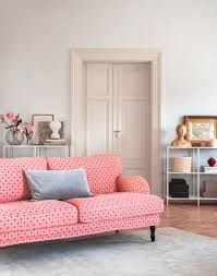 Pink Living Room Furniture Stocksund 3 Seater Sofa Cover Models Sofa Covers And Antiques