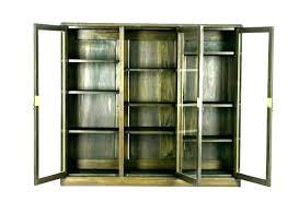 antique bookshelf with sliding glass doors bookcase white library bookcases oak quarter gla