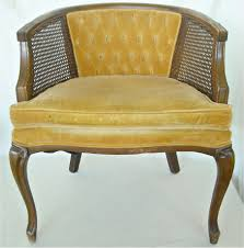 handsome mid century french cane chair barrel back hollywood regency 75 00 plus french barrel chair pics
