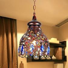 colored chandelier
