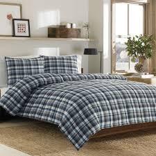 ed bauer bridgeport plaid alternative down comforter set full queen
