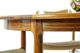 wonderful danish round dining table mid century palisander