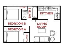 2 Bed U0026 1 Bath   River Pointe Apartments