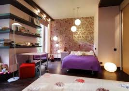 ... Awesome Interior Decor For Teen Girl Bedroom Design Ideas Featuring  Pleasurable Pink Fabric Cover Near Modern ...