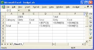 Budget Layout Excel Generated Excel Budget Spreadsheet Download Scientific