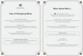 A La Carte Menu Template Menu Creating An Effective Menu Design See Examples