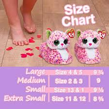 Beanie Boo Slippers Size Chart Ty Beanie Boos Kids Girls Big Head Sophie Cat Non Skid Plush
