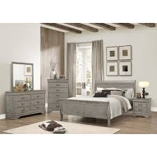Louis Bedroom Furniture Crown Mark Louis Phillipe Queen Bedroom Group Wayside Furniture