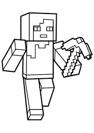 Minecraft Alex Coloring Page Crafts Minecraft Coloring Pages