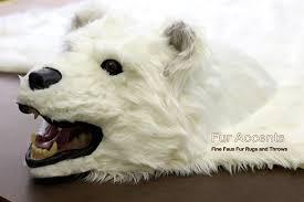 Faux Bearskin Rug Fake Bear Skin Rug Faux Fur Accent Rug Fake Taxidermy Log Cabin