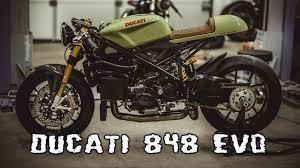 ducati 848 evo cafe racer youtube