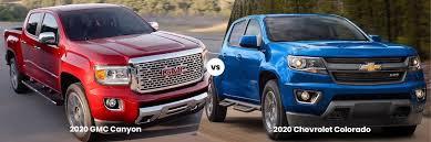 2020 gmc canyon vs 2020 chevrolet