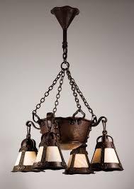 magnificent antique arts crafts chandelier with slag glass arts crafts chandelier arts crafts chandelier