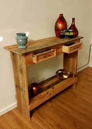 front hallway table. Rustic Pallet Wood Entry Table Hallway Front -