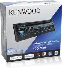 kenwood kdc 258u single din car stereo w usb aux input product kenwood kdc 258u