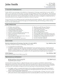 Example It Resumes Resume Letter Directory