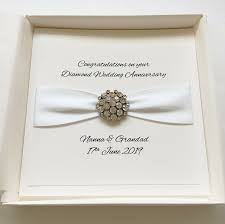 Luxury Handmade Personalized Boxed Diamond Wedding Anniversary Card