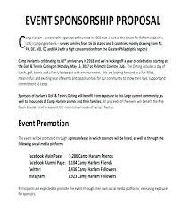 Events Proposal Sample Impressive Soccer Club Sponsorship Proposal Template Sponsorship Letter