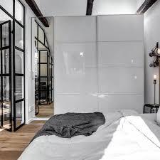 white high gloss modern bedroom closet doors ideas