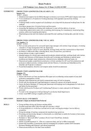 Production Administrator Resume Samples Velvet Jobs