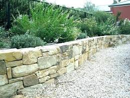 stackable stone retaining wall