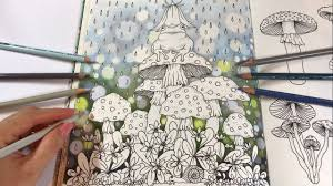 rainy day part 1 bokeh background coloring daydreams coloring book