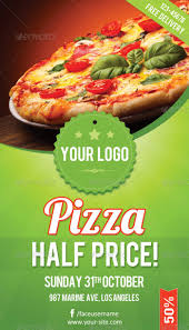 delicious looking restaurant flyer templates pizza flyer
