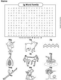 Each printable book comes with a few extra freebies from learn to read as well! Ig Word Family Word Search Coloring Sheet Phonics Worksheet By Science Spot