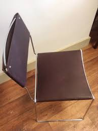 sold saddle leather chairs 1960 s chrome frame