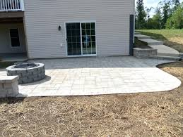 how to build a patio on sloped yard building fire pit with pavers stones can you