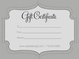 gift certificate blank template best of elegant blank gift