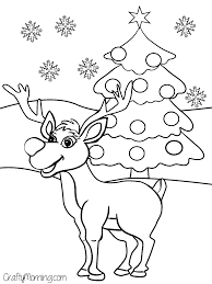 Rudolph Reindeer Coloring Pages Printable Coloring Page For Kids