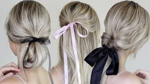 Bows In Hair Style simple & easy hairstyles incorporating bows & ribbon youtube 7977 by wearticles.com