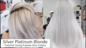 Fanola Colour Chart Silver Platinum Blonde Tutorial Using Fanola Oro Colors Full Version