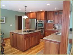 Oak Floors In Kitchen Cherry Kitchen Cabinets With Oak Floors Home Design Ideas