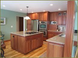 Oak Floors In Kitchen Cherry Kitchen Cabinets With Oak Floors Home Design Ideas
