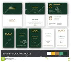 Green Card Template Dark Green And Yellow Gold Business Card Template Stock Vector